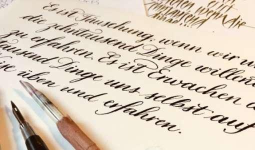 Kalligrafie Basics: Die Kunst des schönen Schreibens