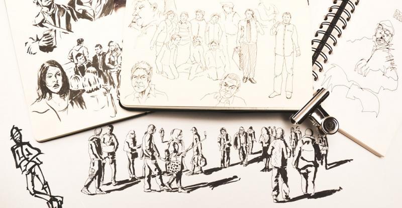 Menschen skizzieren - bringen Sie Atmosphäre in Ihre Urban Sketches