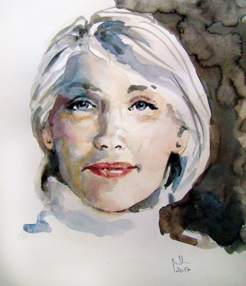 Porträt in Aquarell
